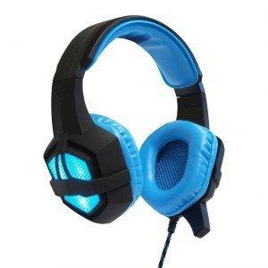 ART Słuchawki gamingowe z mikrofonem Flash podświetlane