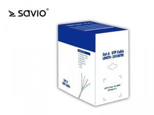 Elmak Kabel sieciowy LANSAVIO CLA-06  Kat.6 UTP 305m CU/ miedź