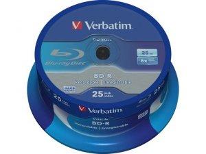 Verbatim BD-R 6x 25GB 25P CB DataLife 43837