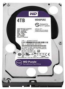 Western Digital HDD Purple 4TB 3,5'' 64MB  SATAIII/5400rpm