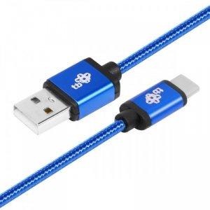 TB Kabel USB-USB C 1.5m niebieski sznurek