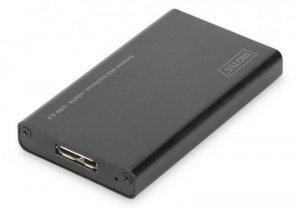 Digitus Obudowa zewnętrzna USB 3.0 na dysk mSATA SSD M50 SATA III, 50x30x4mm, aluminiowa