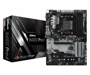 ASRock Płyta główna B450 PRO4 AM4 4DDR4 DSUB/DP/HDMI/M.2/USB3.1 ATX