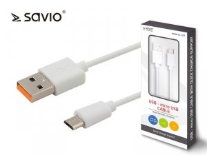 Elmak Kabel USB - micro USB Quick Charge, 5A, 1m SAVIO CL-127