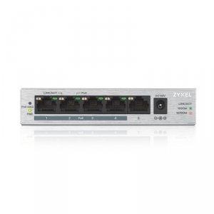 Zyxel Przełącznik GS1005-HP 5 Port Gigabit PoE+ unmanaged desktop 60W