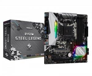 ASRock Płyta główna B450M Steel Legend AM4 4DDR4 HDMI/DP uATX