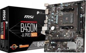 MSI Płyta główna B450M-A PRO MAX AM4 2DDR4 DVI/HDMI M.2 uATX