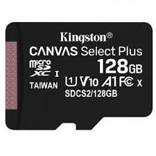 Kingston Karta pamięci microSD 128GB Canvas Select Plus 100MB/s