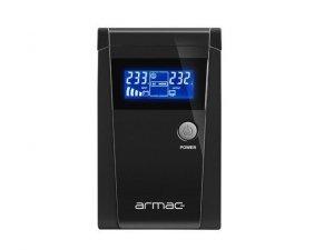 ARMAC Zasilacz awaryjny Armac Line-In 650VA Office Pure Sine Wave LCD 2x230v schuko metalowa obudowa