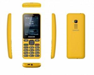 Maxcom Telefon MM 139 DUAL SIM żółty
