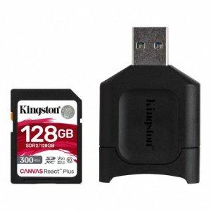 Kingston Karta pamięci SD 128GB React Plus 300/260MB/s czytnik MLP