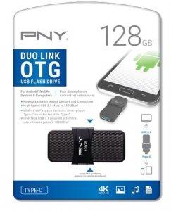 PNY Pendrive 128GB USB3.1 Duo-Link OTG P-FD128OTGSLTC-GE