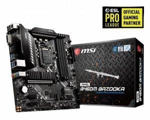 MSI Plyta główna MAG B460M BAZOOKA s1200 4DDR4 M.2 HDMI/DVI mATX