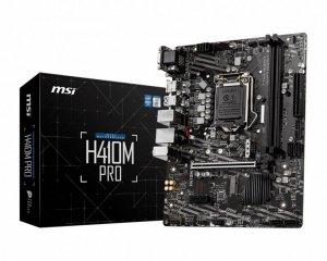 MSI Płyta główa H410M PRO s1200 2DDR4 HDMI/DVI M.2 USB3.2 mATX