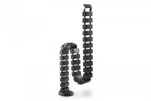 Digitus Maskownica organizer do okablowania (kręgosłup) rogulowana elastyczna 1.3m czarna