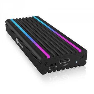IcyBox IB-1824ML-C31 Obudowa M.2 NVMe z oświetleniem RGB