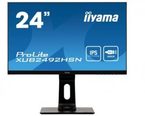 IIYAMA Monitor 23.8 cali XUB2492HSN-B1 IPS,FHD, USB-C, DaisyChain, DP, HDMI,USB 3.0