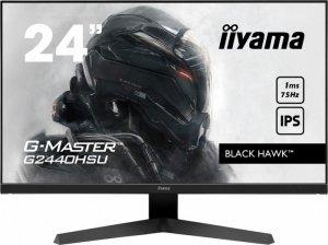 IIYAMA Monitor 23,8 cali G2440HSU-B1 IPS,FHD,75Hz,1ms(MPRT),HDMI,DP,FreeSync