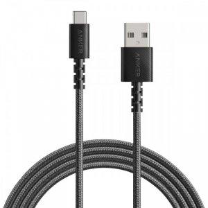 Anker Kabel PowerLine Select+ USB-A - USB-C 6ft czarny