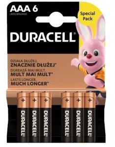 Duracell Bateria AAA/LR3 blister 6 sztuk