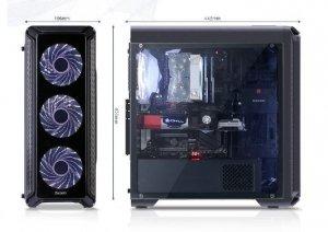 Zalman Obudowa I3 Edge ATX Mid Tower White LED fan x4