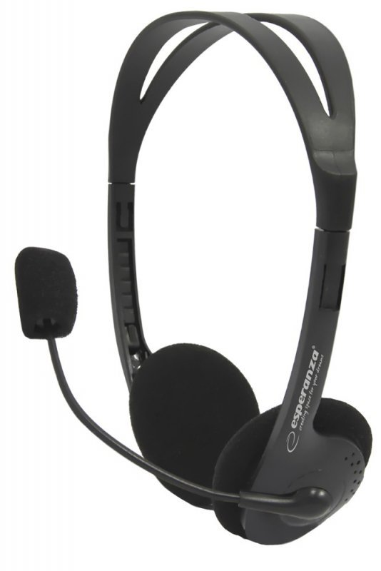 Esperanza Słuchawki stereo z mikrofonem i regulacją głośności EH102