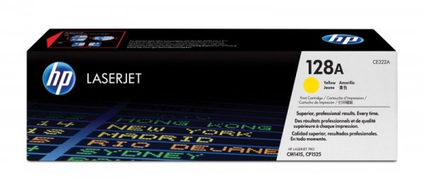 HP Inc. Toner CP1525/CM1415 128A Żółty 1.3k CE322A
