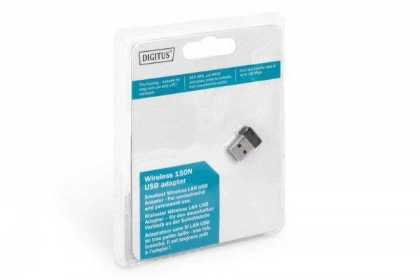 Digitus Mini karta sieciowa bezprzewodowa WiFi 150N 150Mbps na USB 2.0