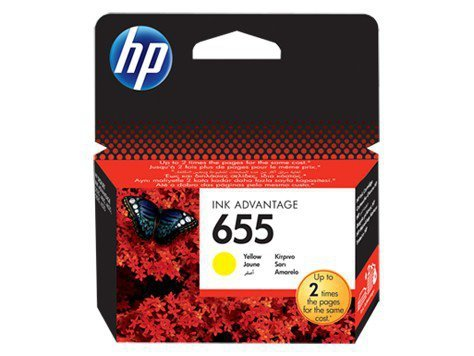 HP Inc. Tusz nr 655 Yellow CZ112AE