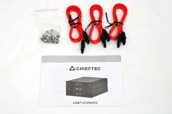 Chieftec CBP-2131SAS kieszeń 3x3,5 S-ATA HDD