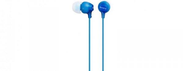 Sony Słuchawki handsfree mikrofon MDR-EX15AP Blue