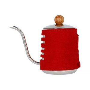 Barista Space - Czajnik w czerwonej osłonce 550 ml