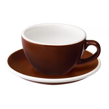 Loveramics Egg - Filiżanka i spodek Cappuccino 200 ml - Brown