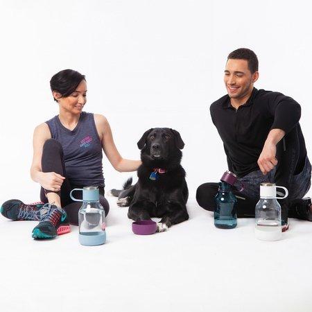 Asobu - Dog Bowl Bottle Tritan Czarna - Butelka z miską dla psa 1,5L
