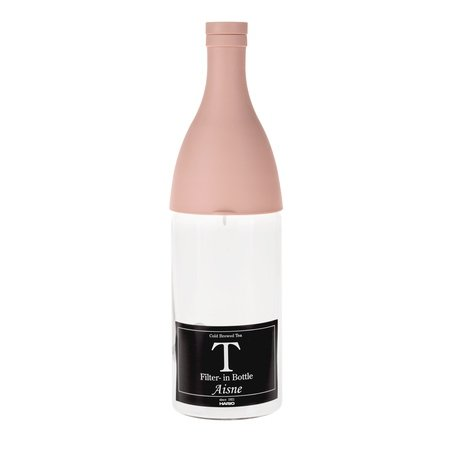 Hario Aisne - butelka z filtrem Cold Brew Tea - różowa