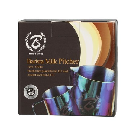 Barista Space - Dzbanek do mleka czarny 350 ml