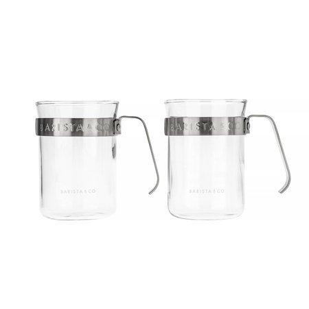 Barista & Co - Metal Framed Cups Steel - Kubki 2 szt.