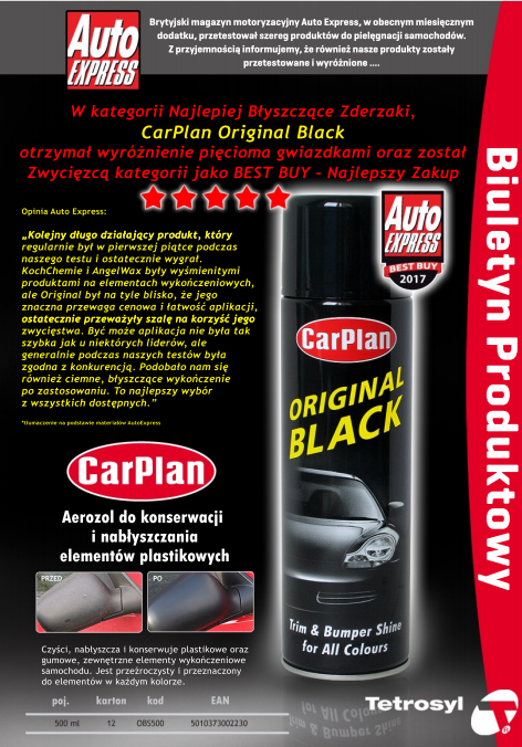 CARPLAN ORIGINAL BLACK DO PLASTIKU 500ML