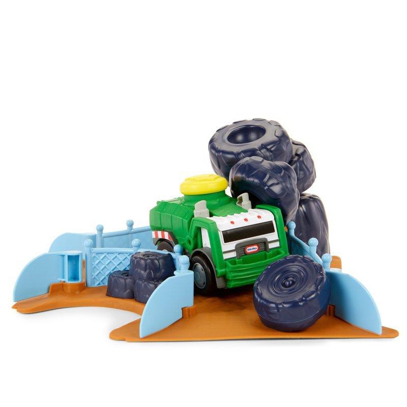 Slammin'Racers Arena do wyścigów + autko śmieciarka Little Tikes