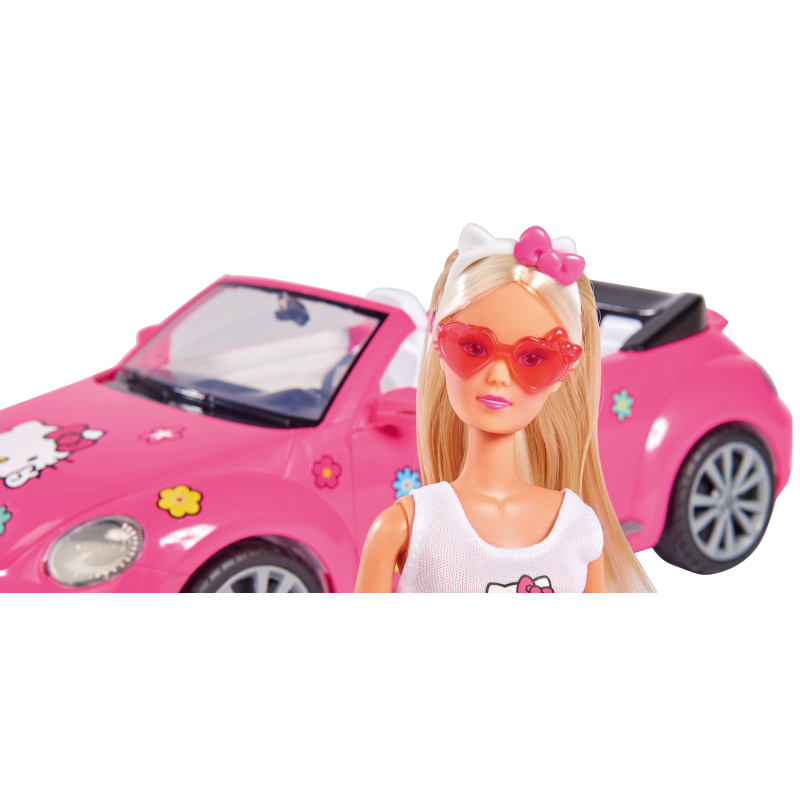 SIMBA Lalka Steffi w Kabriolecie Volkswagen the Beetle Hello Kitty
