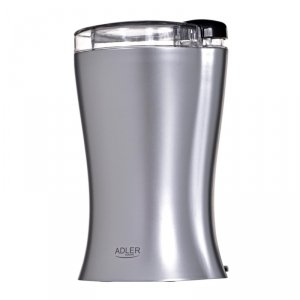 Młynek do kawy Adler AD 443 (150W; udarowy; kolor srebrny)