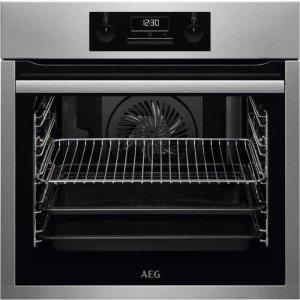 Piekarnik elektryczny AEG BES331110M (Elektroniczne / przyciskowe; 3500W; Srebrny)