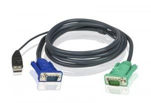 Kabel ATEN 2L-5205U (5m; D-Sub (VGA) M - D-Sub (VGA) M; kolor czarny)