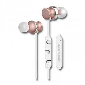 Słuchawki bezprzewodowe Qoltec 50823 (dokanałowe; Bluetooth; TAK; kolor szampański