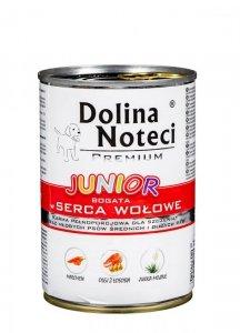 Karma DOLINA NOTECI Premium Junior Serca Wołowe (0,40 kg )