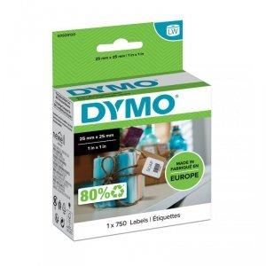 Zestaw etykiet Do drukarek DYMO S0929120 (750 szt.; 25mm x 25mm; Papier; kolor biały)