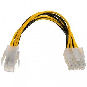 Kabel Akyga AK-CA-10 (4-Pin F - EPS 8-Pin M; 0,15m; wielokolorowy)