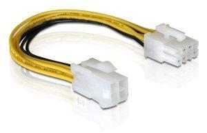 Kabel DELOCK 82405 (4-Pin - 8-Pin ; 0,15m; kolor czarny, kolor żółty)