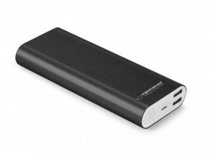 PowerBank Esperanza PROTON EMP113K (10000mAh; USB 2.0; kolor czarny)