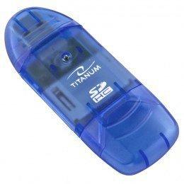 Czytnik kart TITANUM TA101B (Zewnętrzny; MicroSDHC, miniSD, MMC, SD, SDHC)
